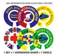 """6 SETS PERSONALISED BOWLS STICKERS YOUR WORDS 1"""" LAWN FLATGREEN & INDOOR BOWLS"""