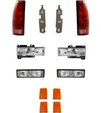 94-98 GMC Truck Suburban Headlights Parklamps Side Markers Tail Lights W/Boards