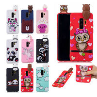 For Samsung Galaxy S10 Plus/S9/Note 9 Cute 3D Rubber Silicone Pattern Case Cover