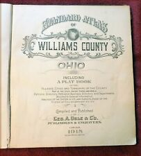 1918 STANDARD ATLAS OF WILLIAMS COUNTY OHIO INCLUDING PLAT BOOK [ILLUSTRATED]