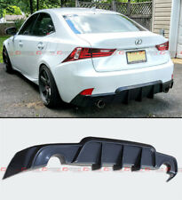 FOR 2014-16 LEXUS IS250 IS350 IS200T JDM SHARK FIN WD REAR BUMPER LIP DIFFUSER