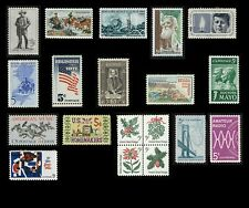 #1242-1260: 1964 Commemorative Set, 19 Stamps Mint NH OG **ANY 4=FREE SHIPPING**