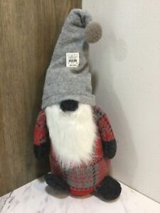 POTTERY BARN RARE Plush Holiday Gnome Large Size NEW Christmas Decor  sold out