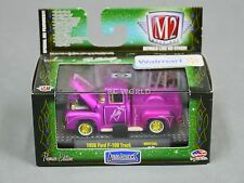 1/64 M2 Machines 1956 Ford F-100 PURPLE CHASE  PickUp Truck   #r3