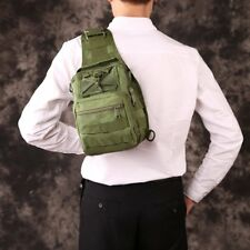 Tactical Shoulder Sling Backpack Men Chest Khaki Rover Molle Day Crossbody Bag