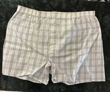Vintage Hanes Boxer Shorts 60s 70s Cotton Polyester Tan Plaid Size Large 40 Usa