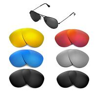 Walleva Replacemen​t Lenses for Ray-Ban Aviator RB3025 55mm - Multiple Options