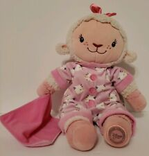 Disney Store Lambie Plush Doc McStuffins Holiday Pajamas Pink Lamb Rare with Tag