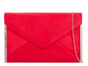 Suede Velvet Leather Clutch Prom Bridal Party Wedding Evening Handbag 50292