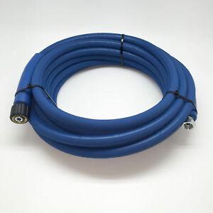 30 Mtr Blue Pressure Washer Hose M22 x M22 Karcher Female 400 Bar Jet Wash