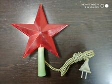 Vintage Christmas Tree Topper Top Star Snowflake 19 Lights Tinsel Plaque