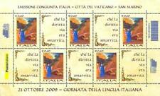ITALIA 2009 GIORNATA DELLA LINGUA ITALIANA FOGLIETTO BF 50
