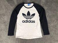 Vintage Adidas Long Sleeve Tshirt Two Tone Original Logo Mens Small