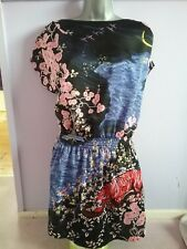 H&m noir Oriental Tiger floral dress 10