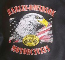 Harley Davidson Faux Leather Motorcycle Jacket Biker 3T Black Kids Patches