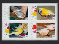 FINCH BIRDS = Se-tenant block Picture Postage stamps MNH Canada 2015 [p15/12bkb4
