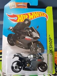 Hotwheels 2016 - Ducati 1199 Panigale [GREY] LONG CARD *12 CARS POSTED FOR $10*