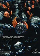 I- Publicité Advertising 2009 La Montre Omega Seamaster Ploprof 1200 mètres
