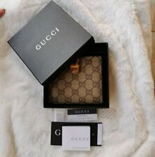 Authentic Preowned Gucci GG Monogram Bamboo Small Wallet