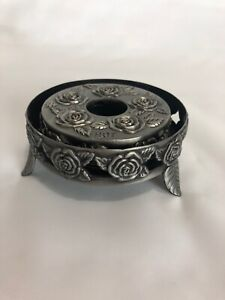 Metal Warmer With Roses Design Unbranded