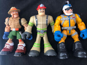 Vintage 1998 2002 Mattel Rescue Heroes Action Figures Lot of 3