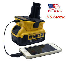 (USB Adapter) Dewalt DCA1820 10.8V 12V 18V 20V to 18Volt Slide Battery Converter