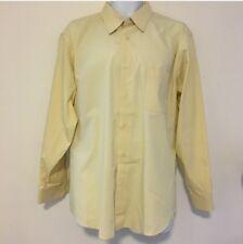 Croft & Barrow Men's Dress Shirt sz XL 17 1/2  - 18 Yellow  Long Sleeve  Z46