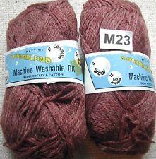 ***M23 Vintage 600g Midgley & Catton Superblend Brown DK 33% Wool Knitting yarn