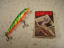RAPALA ORIGINAL F-9 FT_ESCHE ARTIFICIALI- FLOATING 9cm/5g FIRE TIGER VERT FLUO