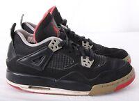 Nike 408452-089 Air Jordan IV Retro Bred Black/Gray/Red High-Tops Boy's 4.5Y