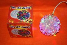 1pc 50 LED Petal Ball Light Multi Or Clear Hanging Light Up Xmas Party Decor chr