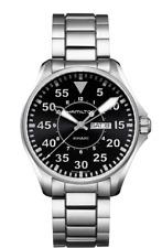 Hamilton Khaki Aviation Pilot Day Date St Steel Black Dial Men's Watch H64611135