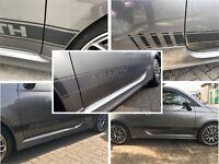 Fiat 595/500 Abarth Fibra di Carbonio Strisce Laterali Decalcomanie Adesivi N °