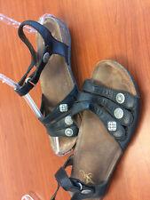 """Dansko Black Leather Adjustable Ankle Strap Sandals EUR 41  10M  Footbed 10 3/4"""""""
