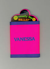 Personally Yours Wallet ~VANESSA ~ Stocking Stuffer ~ Pink Personalized Wallet