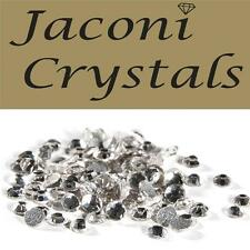 100 x 1mm JACONI Clear Glass Loose Round Flat Back Crystal Craft Embellishment
