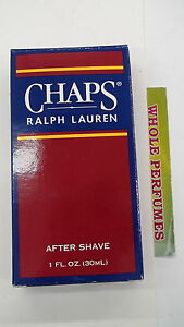 CHAPS RALPH LAUREN MEN 1.0/ 1 OZ/30 ML AFTER SHAVE SPLASH NEW IN BOX AS PICTURED