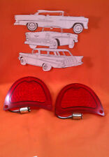 1957 Chevy Belair Taillight Lens LED Sedan Wagon Nomad Convertible Pair New