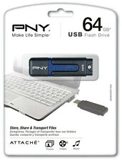 64GB PNY USB Flash Drive P-FD64ATT2-GE Made in Korea