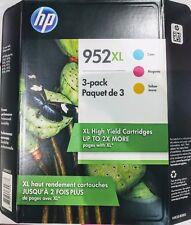 HP Genuine 952XL Ink Cartridges EXP 01-2021 Cyan Magenta Yellow 3 Pack