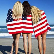 USA Beach Bath Towel American Flag Red White Blue Stars And Stripes 30 X 60 inch