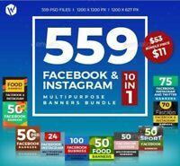 559 High Quality Facebook & Instagram Banner Bundle