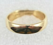 14k Band Ring Size 11.75 - Smooth Finish 5.7mm Wide - Yellow Gold 6.7 Grams