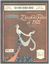 Ziegfeld Follies 1921 Second Hand Rose FANNY BRICE Vintage Sheet Music