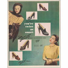 1947 Vitality Shoes: Youre Twice as Smart Vintage Print Ad
