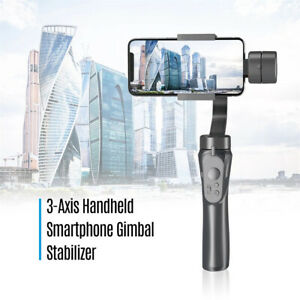 Black Portable 3-Axis Gimbal Stabilizer Live Smartphone Cams Holder Bracket