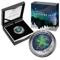 2016 $5 Northern Sky Cygnus 1oz Silver Proof Domed Coloured award winning Coin