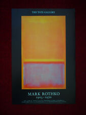 "Vintage Tate Gallery Original Mark Rothko 1987 Exhibition Poster RARE 30""X20"""