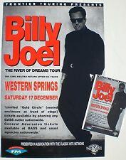 "BILLY JOEL ""RIVER OF DREAMS TOUR"" NEW ZEALAND 1994 CONCERT POSTER + HANDBILL"