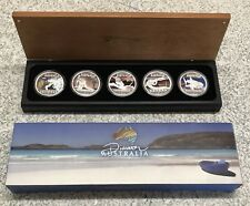 2012 Discover Australia Colorized 1 oz .999 Fine Silver $1 5-Coin Set SOLD OUT!